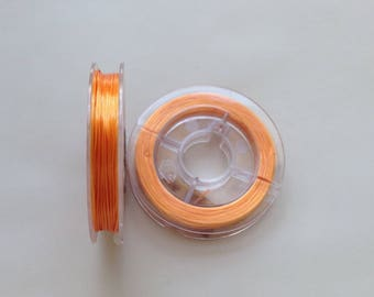 LOT 10 m SPER elastic reel 0.8 multi-fiber yarn / 1 mm ORANGE Pearl