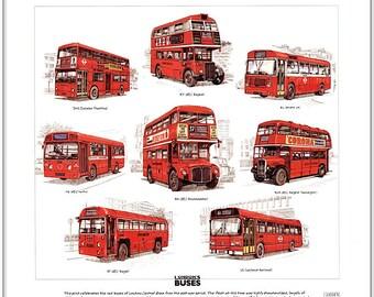 LONDON BUSES (Post-war) - Fine Art Print (Routemaster)