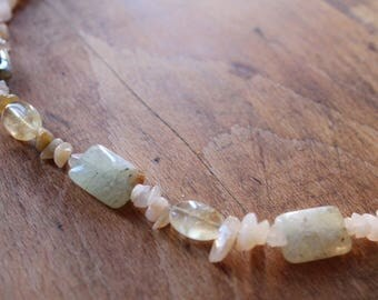 PREHNITE AVENTURINE NECKLACE