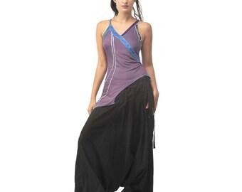 Harem pants / long sarwel pleated black unisex/mixed