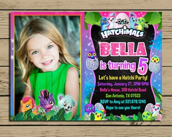 Hatchimals Invitation * Hatchimals Birthday Invite * Hatchimals Birthday Party Invitation With Photo * Personalized * YOU PRINT
