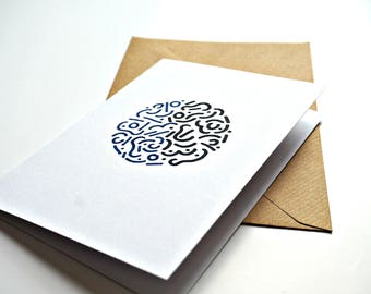 Contemporary doodle greeting card