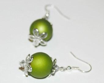 Joyful - olive green Version earrings