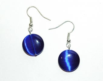 Pearl Blue Cat's eye earrings