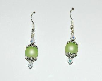 Joyful - lime green Version earrings