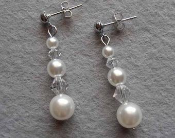 """Earrings bridal """"Diana"""""""