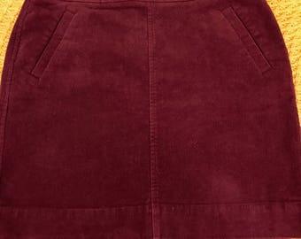 LOFT Corduroy Mini Skirt