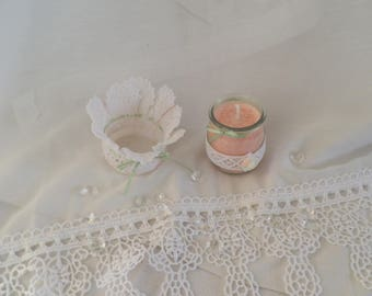 Duo small candle and mini basket