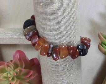 Agate Gemstone | Stretch Bracelet | Stacking Bracelet | Boho Bracelet | Crystal Bracelet | Healing Crystal Jewelry