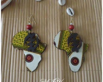 Wax with Gye nyame symbol earrings