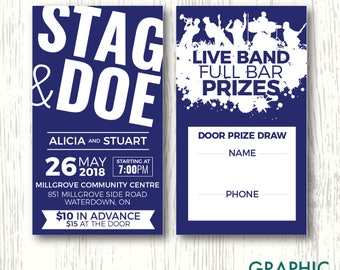 Blue Stag & Doe Ticket, Personalized Digital File
