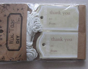 Set of 20 thank you tags