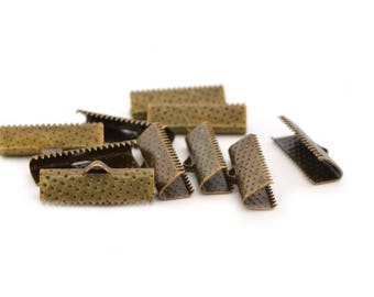 10 clips 20 mm ribbon ends