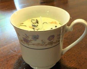 Teacup Candle Jasmine Green Tea