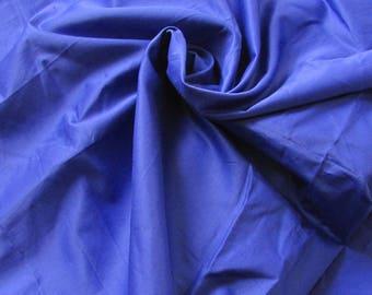 Coupon 1.85 m Royal Blue Cotton satin