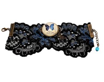 Vintage (blue buterfly) bracelet