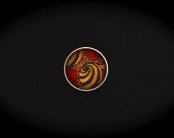 Cabochon pressure fancy 18mm for jewelry - Africa: spiral pattern