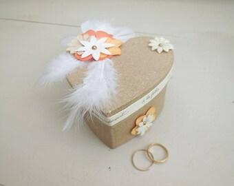 Gypsy, Bohemian, rustic wedding ring holder. Wedding ring holder. The groom gift. Wedding accessories.