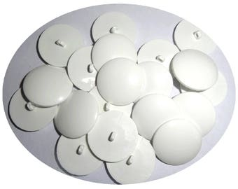 Set of 50 buttons haberdashery color white