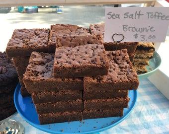 Sea Salt Toffee Brownies - 4 pack
