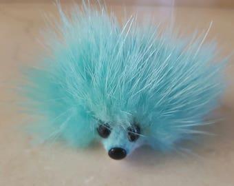 Key ring / jewel phone Hedgehog mink 6 cm
