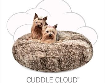 Peluche Plush Cuddle Cloud Round Bambi Cuddle Dog Bed