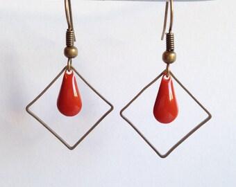 Earrings - Summertime - orange