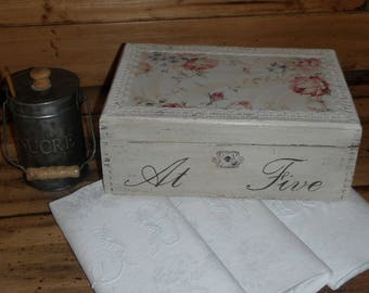 Tea Caddy old Shabby chic style