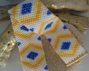 miyuki Delica peyote stitch Cuff Bracelet