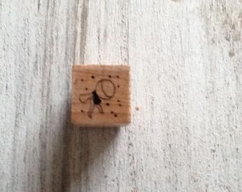Wooden rattle pattern stamp