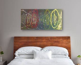 24 x 48 Large Abstract Painting - Original Art - Chakra Inversion