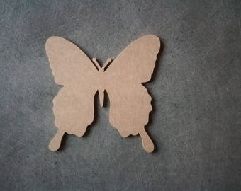 MDF backing 13 blank wooden Butterfly x 13 cm