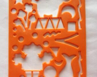 Kids STENCIL - plastic - FAIRGROUND REF. 499