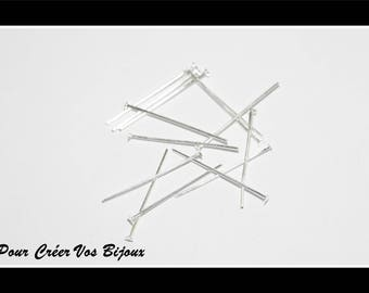 Set of 50 stems highlight of 40mm silver plated metal