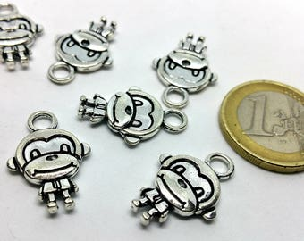 X 1 charm - Monkey Chimp - silver metal