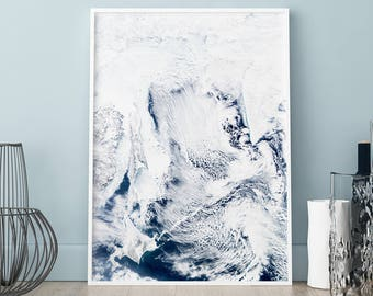Clouds poster, Clouds print, Wall art, Art Print, Scandinavian print, Scandinavian poster