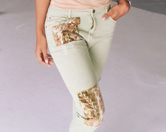 Vintage jeans with patches