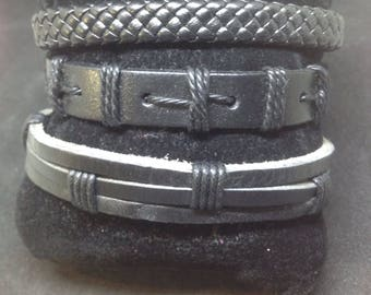 Mens leather bracelet.