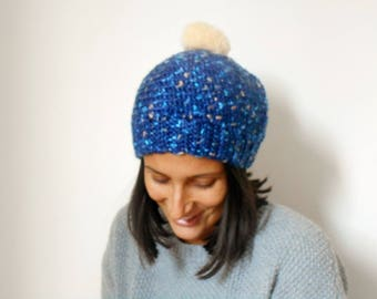 Wool Hat with PomPoms