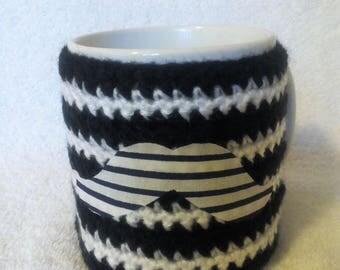 Cover hides mustache left-handed mug
