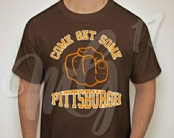 "Custom ""Come Get Some Pittsburgh"" Adult Men's Graphic Tee"