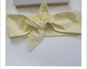 headband pine ' up, scarf, accessory bag white yellow stain