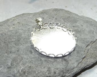 1 medium 25 mm cabochon dome glass or silver plated polymer clay