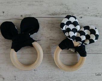 Teething ring wood Mickey