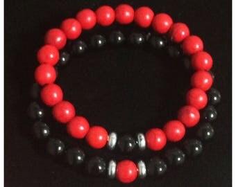 Couples bracelets.  Friendship bracelet. Distance Bracelet  Custom colors.