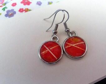 Unique 14 mm Silver earrings