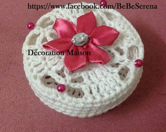 Set of 5 box of sweets in crochet with flower