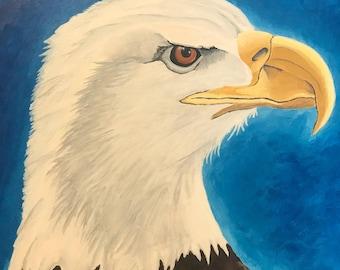 Bald eagle original acrylic painting