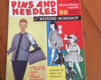 Knitters Australian Pins and Kneedles 50 patters Jackie O jacket 1961