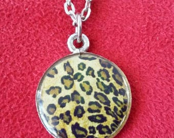 Punk lolita vintage rock rockabilly pinup leopard necklace